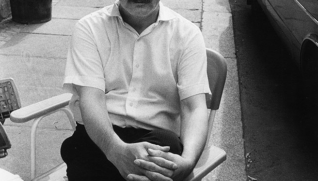 Roland Frenzel, 1987. Foto am Thomaskirchhof: Karin Wieckhorst