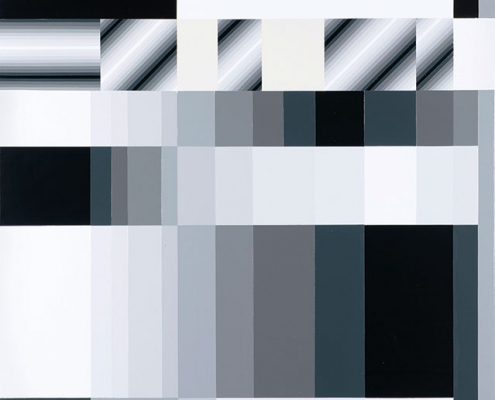 Benjamin Dietrich, »Glaz./Holo,«, 2018, Lack auf Leinwand, 125 x 85 cm