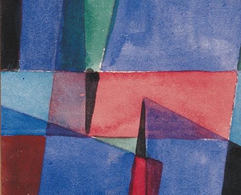 Manfred Martin, op. 151, 1958, Aquarell auf Karton, 9,1 x 6,4 cm